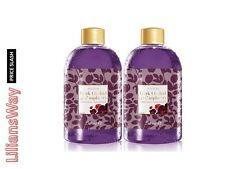 2 X AVON Limited Edition Dark Orchid & Raspberry Bubble Bath~250ml x 2