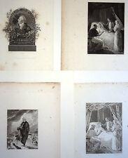 Lot J. F. Ducis 4 Gravures XIXe G. Corbould, Pourvoyeur, Colin, Avant la lettre