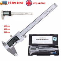 Digital Vernier Stainless Steel Caliper 150-300mm Micrometer Electronic Gauge UK