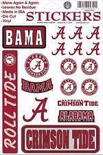 Alabama Crimson Tide Vinyl Die-Cut Sticker Decals - 18 per sheet