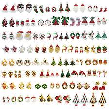 10Pcs Enamel Colorful Mixed Christmas Tree Santa Charms Pendant DIY Findings