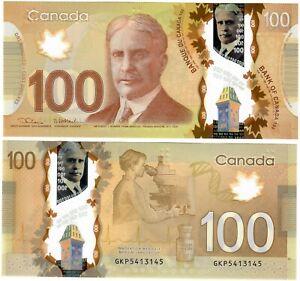 "Canada 100 Dollars 2012 (2021) UNC ""GKP"" Lane-Macklem RADAR [2]"