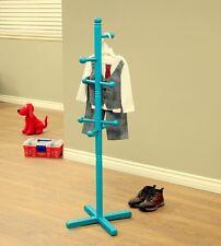 New Freestanding Children's wood Coat Rack Blue