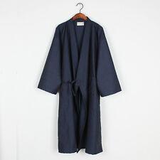 Men Kimono Sleepwear Pajama Dressing Gown Soft Bath Robe Retro Cotton Linen