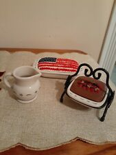 Longaberger Collector's Club miniature pottery dishes collection faux cakes