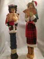 VINTAGE CHRISTMAS CAROLERS -TALL