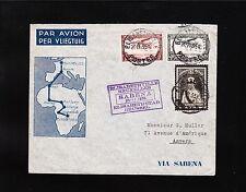 Belgium Belgian Congo Elisabethville - Brussels 1935 Air Mail Via Sabena Cover ^