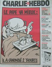 CHARLIE HEBDO N° 660 FEVRIER 2005 RISS LE PAPE VA MIEUX IL A CANONISE 2 YAOURTS
