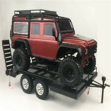 1/10 RC Climbing Car Truck Modell Heavy Duty Trailer Metal Für Axial SCX10