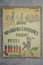 HINZELIN. QUAND NOS GRANDS CAPITAINES ÉTAIENT PETITS. ILLUSTRATIONS DE JOB. 1938