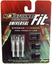 NEW Nockturnal FIT Rage Universal Lighted Nock System Strobing Red/Green NT-300