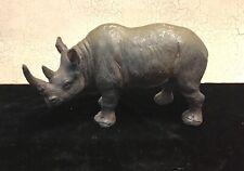 Vintage Resin Rhino Figurine