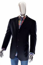 Ermenegildo Zegna High Performance Black Australian Wool Sportcoat 56R 46R