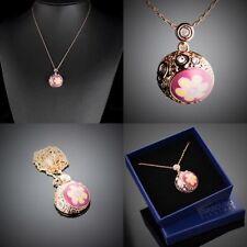 Modeschmuck-Halsketten & -Anhänger aus Edelstein mit Kristall für Damen