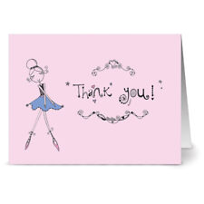 24 Note Cards - Ballet Beauty Thank You - Plum Purple Envs