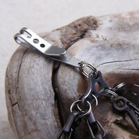 EDC Gear Money Clip Belt Hanger Keychain Stainless Pocket Multi Holder Tool best