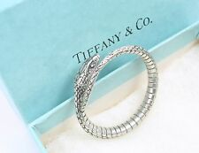 Rare Vintage Tiffany & Co Sterling Silver Textured Snake Key Ring w/box