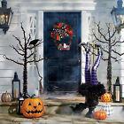 Halloween Wreath Farmhouse Pumpkin Truck Wreaths for Home Front Door Decoration