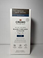 CREMO HAIR & BEARD COLOR PERMANENT MEDIUM DARK BROWN MULTIPLE USE MM 18428