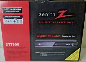 Zenith DTT900 Digital TV Tuner Converter Box w/ Cables & Remote