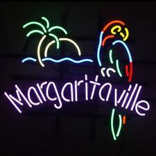 Margaritaville Parrot Beer Bar Real Neon Light Sign Room Store Wall Decor Lamp
