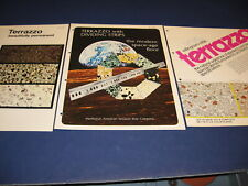 1973 Terrazzo Cement Floor Catalog 3 Lot Retro Design Georgia Marble Co