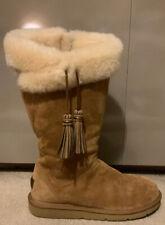 Ugg Plumdale Chestnut Sheepskin Boots - Size 7
