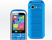 Smooth Snap Unlocked 2G Phone Celular Desbloquea w/$5 Preloaded SIM (T-Mobile)