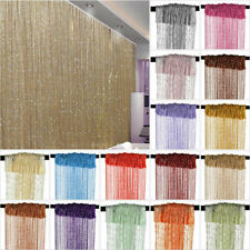 String Door Curtain Beads Divider Tassel Crystal Fringe Window Panel Hanging USA