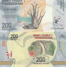 MADAGASCAR Billet 200 ARIARY ROANJATO 2017 NEW NOUVEAU PAPILLON CASCADE NEUF UNC