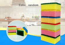 10pcs Emery Sponge Brush Eraser Cleaner Kitchen Rust Cleaning Tool Color random