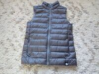 REI Co Op Puffy Down Vest Girl's Size Large Insulated Quilted Gray Winter