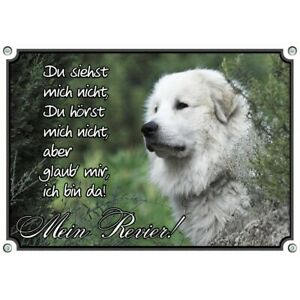wunderschönes Hundeschild mit dem Pyrenäen Berghund - uv-beständig