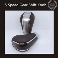 5 Speed PU Leather Manual Car Auto Gear Shift Knob Shifter Stick Universal Lever