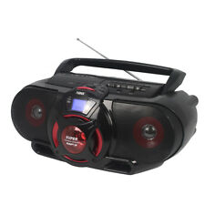 Naxa Portable Boombox with MP3/USB/CD/Cassette Playback & Bluetooth in Black