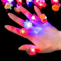 Kids Festival Christmas Electronic Glitter Shiny Finger Decor Rings Toys;
