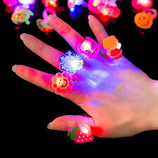 Kids Festival Christmas Electronic Glitter Shiny Finger Flash Decor Ring Fun Toy
