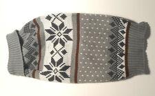 Dog Winter Snowflake Gray Turtleneck Sweater Size S EUC