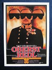 Filmplakatkarte cinema   Oberst Redl    Klaus Maria Brandauer  , A.Müller-Stahl