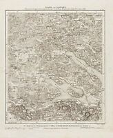 MAP ANTIQUE AMMAN 19TH CENTURY SWABIA RADOLFZELL REPLICA POSTER PRINT PAM0522