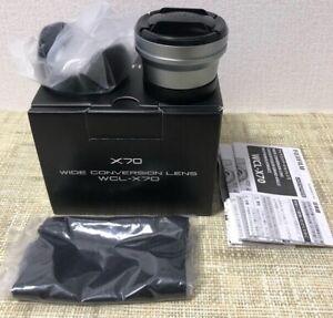 Fujifilm Fuji Film WCL-X70 Wide Conversion Lens F. X70 Digital Camera Silver