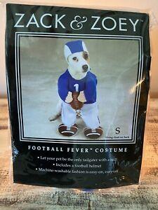 Zack & Zoey FOOTBALL Fever Colts Lions Dog Halloween Costume NIP SZ Small