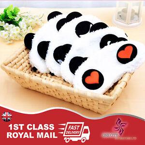 Cute Panda Eye Mask Cover Sleep Mask Eye Patch Good Sleeping Travel Soft Gift UK