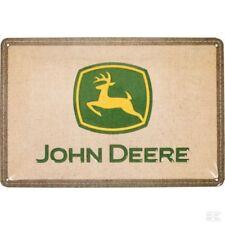 John Deere Brand Placca Di Metallo Segno Parete 150 x 300m