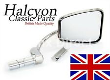 Halcyon Stainless Steel Stadium UK Made 820 Bar End Mirror Fits 7/8 & 1Inch Bars