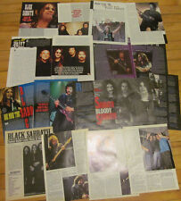 Black Sabbath, Lot of Seven Two Page Clippings