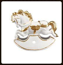 Pferdefigur Keramik Pferd Goldlegierung Handarbeit aus Italien