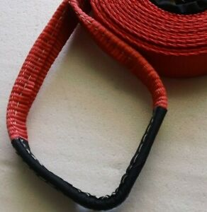 """Shifter Kart - Direct Drive Pull Strap - Start Rope - 2"""" Wide w/ Handle Red"""