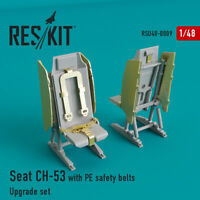 Reskit RSU48-0009 - 1/48 – Seat CH-53, MH-53 with PE safety belts Upgrade