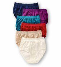 Fruit of the Loom Women`s 6-Pack Nylon Brief Panties